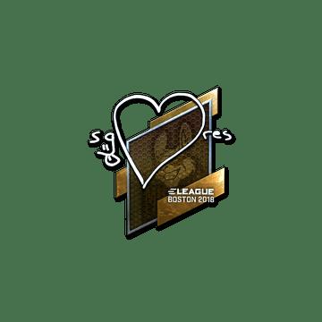 Sticker | seang@res (Foil) | Boston 2018