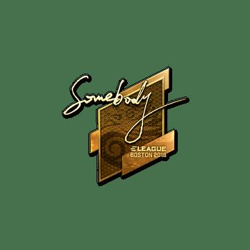 Sticker | somebody (Gold) | Boston 2018