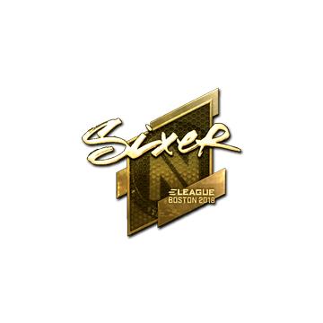 Sticker   SIXER (Gold)   Boston 2018