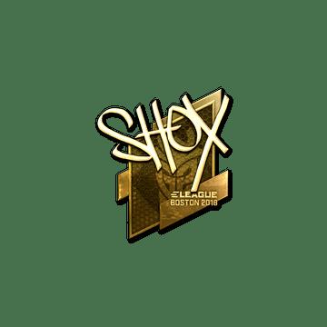 Sticker | shox (Gold) | Boston 2018