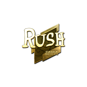 Sticker   RUSH (Gold)   Boston 2018