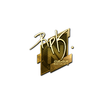 Sticker   RpK (Gold)   Boston 2018