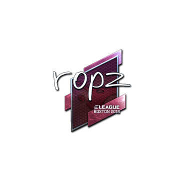 Sticker | ropz (Foil) | Boston 2018