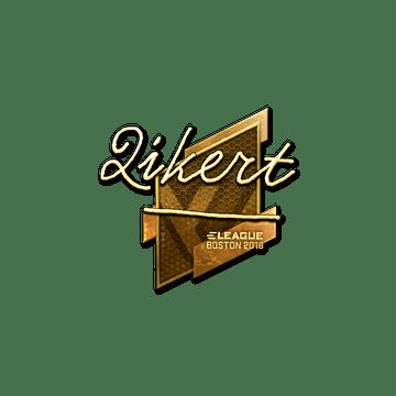 Sticker | qikert (Gold) | Boston 2018