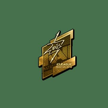 Sticker | Zeus (Gold) | Boston 2018