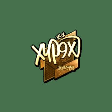 Sticker   Xyp9x (Gold)   Boston 2018