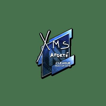 Sticker   xms (Foil)   Boston 2018