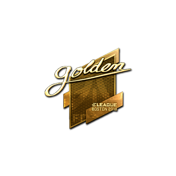 Sticker | Golden (Gold) | Boston 2018