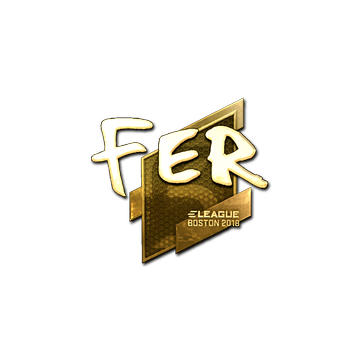 Sticker | fer (Gold) | Boston 2018