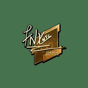 Sticker | fnx (Gold) | Boston 2018