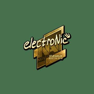 Sticker   electronic (Gold)   Boston 2018