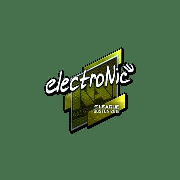 Sticker   electronic (Foil)   Boston 2018