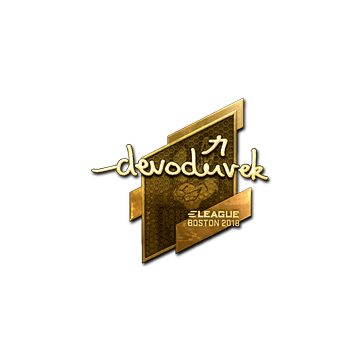 Sticker   devoduvek (Gold)   Boston 2018