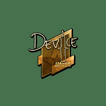 Sticker   device (Gold)   Boston 2018