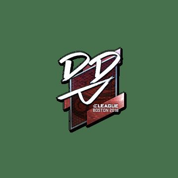 Sticker   DD (Foil)   Boston 2018