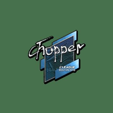 Sticker | chopper | Boston 2018