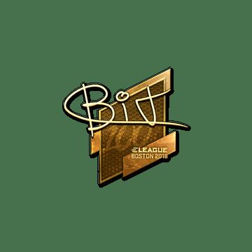 Sticker   BIT (Gold)   Boston 2018