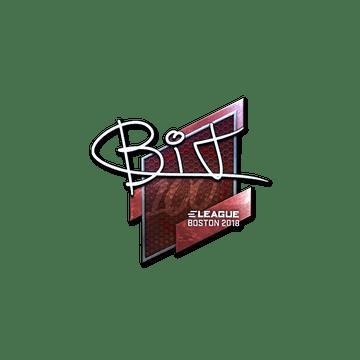 Sticker   BIT (Foil)   Boston 2018
