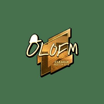 Sticker | olofmeister (Gold) | Boston 2018