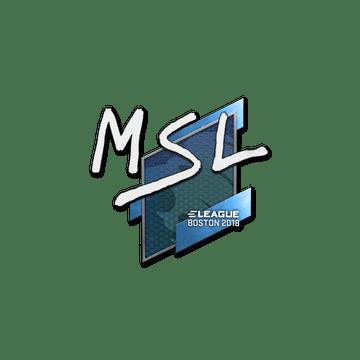 Sticker | MSL | Boston 2018