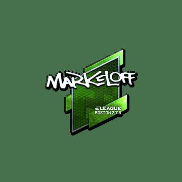 Sticker | markeloff (Foil) | Boston 2018