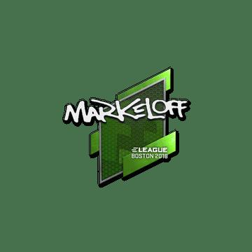 Sticker   markeloff   Boston 2018