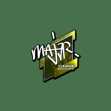 Sticker | MAJ3R (Foil) | Boston 2018