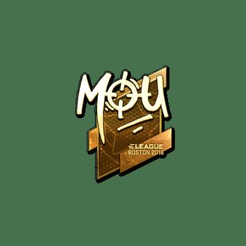 Sticker | mou (Gold) | Boston 2018