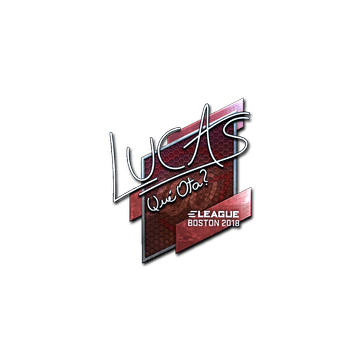Sticker | LUCAS1 (Foil) | Boston 2018