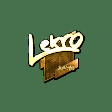 Sticker | Lekr0 (Gold) | Boston 2018