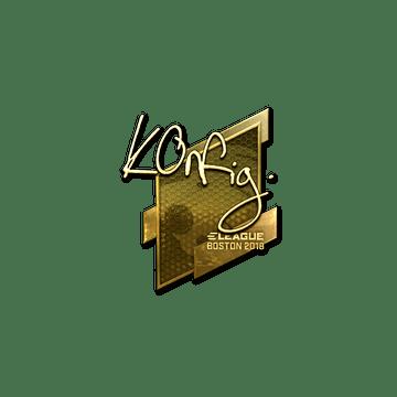 Sticker   k0nfig (Gold)   Boston 2018