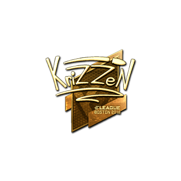 Sticker | KrizzeN (Gold) | Boston 2018