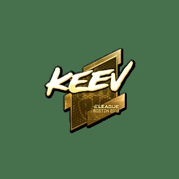 Sticker | keev (Gold) | Boston 2018