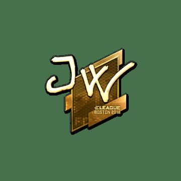 Sticker | JW (Gold) | Boston 2018