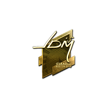 Sticker | jdm64 (Gold) | Boston 2018