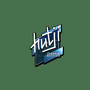 Sticker | hutji (Foil) | Boston 2018