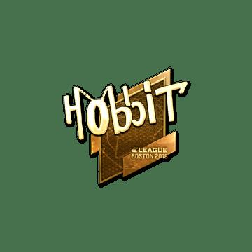 Sticker | Hobbit (Gold) | Boston 2018