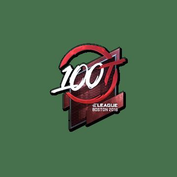 Sticker | 100 Thieves (Foil) | Boston 2018