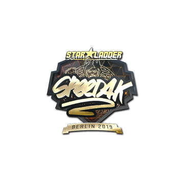 Sticker | speed4k (Gold) | Berlin 2019