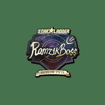 Sticker   Ramz1kBO$$ (Gold)   Berlin 2019