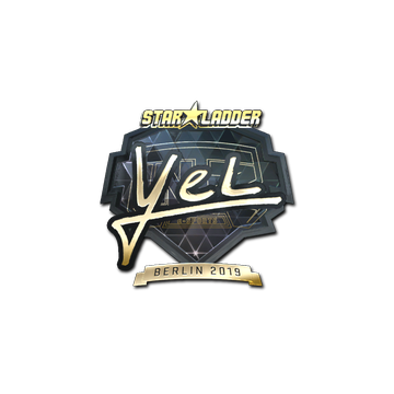Sticker   yel (Gold)   Berlin 2019