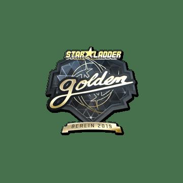 Sticker   Golden (Gold)   Berlin 2019