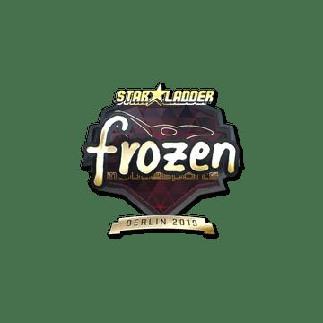 Sticker   frozen (Gold)   Berlin 2019