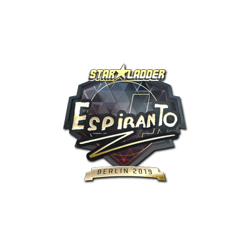 Sticker   EspiranTo (Gold)   Berlin 2019
