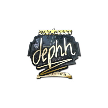 Sticker | dephh (Gold) | Berlin 2019