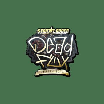 Sticker   DeadFox (Gold)   Berlin 2019