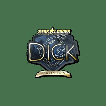 Sticker   DickStacy (Gold)   Berlin 2019