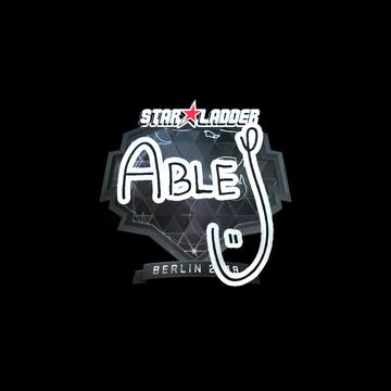 Sticker | ableJ (Foil) | Berlin 2019