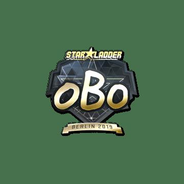 Sticker | oBo (Gold) | Berlin 2019