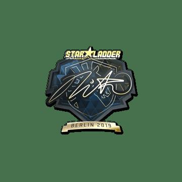 Sticker | nitr0 (Gold) | Berlin 2019